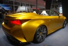 Golden Lexus LF-C2 sport car royalty free stock photo