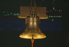 Golden Liberty Bell at night, Washington DC Royalty Free Stock Photography