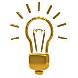Golden light bulb icon Royalty Free Stock Photos