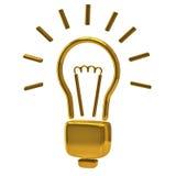 Golden light bulb icon Royalty Free Stock Photos