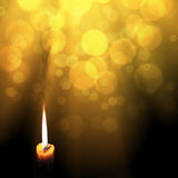 Golden light candles Royalty Free Stock Photos