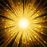 Golden light explosion background Stock Photos