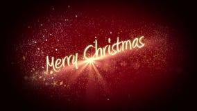 Golden light forming christmas greeting vector illustration