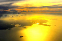Golden Light. The golden light gilded the sea. The sea and the sky melted into each Royalty Free Stock Photo