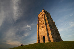 Golden light on Glastonbury Tor Royalty Free Stock Photo