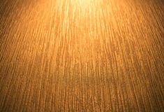 Golden light that shines into the room wall. Royalty Free Stock Photos