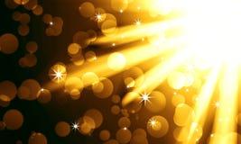 Golden light spotlights Stock Images