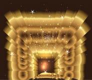 Golden Light star Burst Royalty Free Stock Images