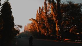The golden light yogyakarta city royalty free stock images