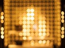 Golden lightbulbs. Stock Photo