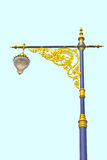 Golden lighting pole Stock Images