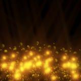 Golden lights. On black background Stock Photography