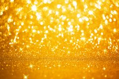 Golden lights background Stock Photography