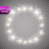 Golden Lights Background. Christmas Lights Concept. Vector illustration. Eps 10 Royalty Free Stock Photography
