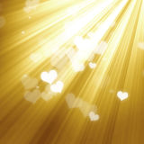 Golden lights background Stock Photos