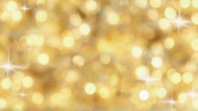 Golden Lights. Bokeh from golden christmas lights Stock Images