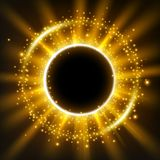 Golden lights rounded background Royalty Free Stock Photo