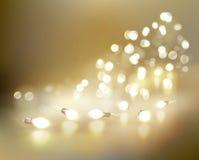 Golden lights. Vector illustration. Royalty Free Stock Photos