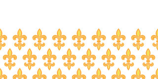 Golden lily horizontal seamless pattern background Royalty Free Stock Photography