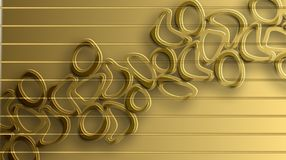 Golden line with Curve light effect background Stock Photography