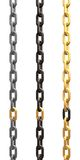 Golden link. A chain with a link made of a gold as a metaphor for greater merit or value. Three variations are given for the chain (iron, rusted, and golden Royalty Free Stock Photography