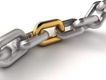 Golden link royalty free illustration