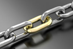 Golden Link Royalty Free Stock Image
