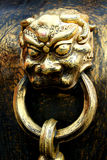 Golden lion. Had of golden lion. Beijing. China Stock Photography