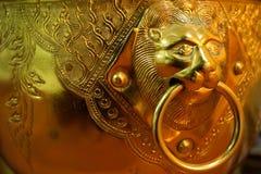 Golden lion bowl Royalty Free Stock Photos