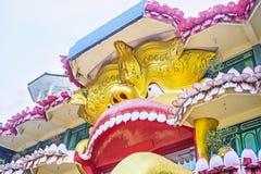 The golden lion of Dambulla Stock Photo