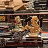 Golden lion, a detail of a gondola, Venice Stock Photos