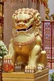 Golden Lion for a Good Feng Shui. Beautiful Golden Lion for a Good Feng Shui Stock Image
