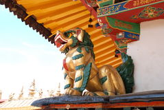 The Golden Lion. Jokhang Temple of the Golden Lion Royalty Free Stock Images