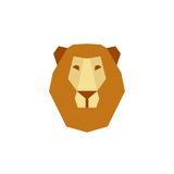 Golden lion. Logo design on a white background Royalty Free Stock Image