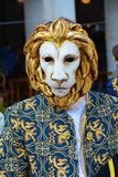 Golden lion mask, Venice, Italy, Europe Stock Photography