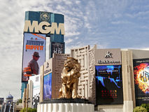 Golden Lion and MGM Casino Stock Image