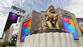 Golden Lion and MGM Casino Royalty Free Stock Photo