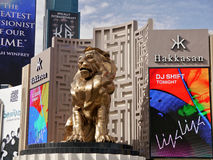 Golden Lion and MGM Casino Stock Photography