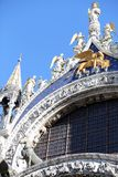 Golden Lion of Saint Mark Cathedral in Venice Stock Images