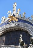 Golden Lion of Saint Mark Cathedral in Venice Royalty Free Stock Photos