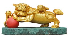 Golden lion Sculpture Royalty Free Stock Photography