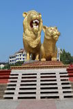 Golden Lion in Sihanoukville Stock Photos