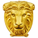 Golden lion statue isolate is on white background Royalty Free Stock Photos
