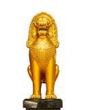 Golden Lion statue Royalty Free Stock Photos