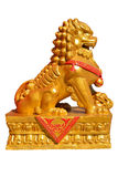 Golden lion statue Royalty Free Stock Photo