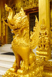 Golden lion statue Royalty Free Stock Images