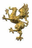 The Golden lion. The golden winged lion, symbol of power Stock Photos