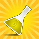 Golden liquid in beaker Royalty Free Stock Photo