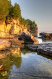 Golden Lit Bruce Peninsula Royalty Free Stock Images