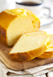 Golden loaf cake Stock Photos